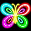 Rita med neon effekt