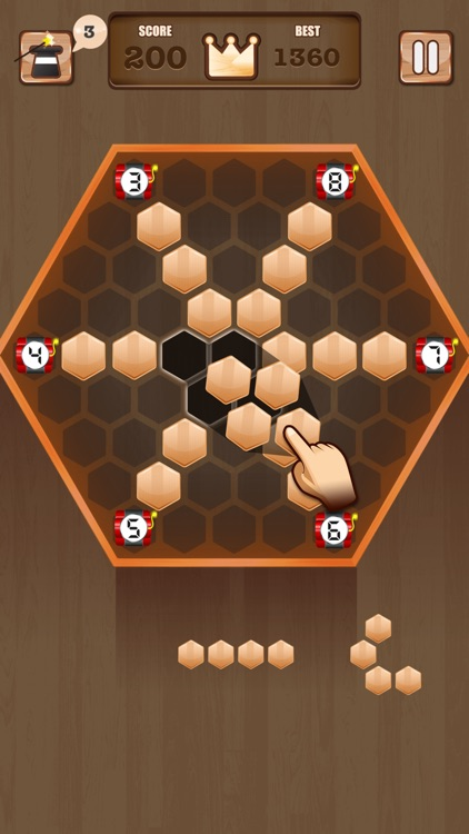 Wooden 100 Block - Hexa Puzzle Logic Mania screenshot-1