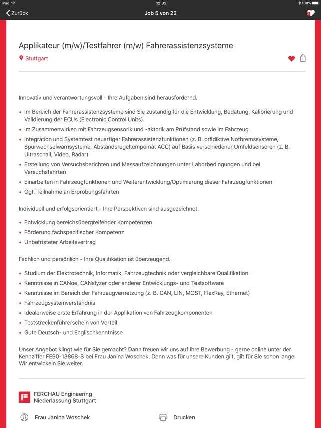 Ferchau Job Im App Store