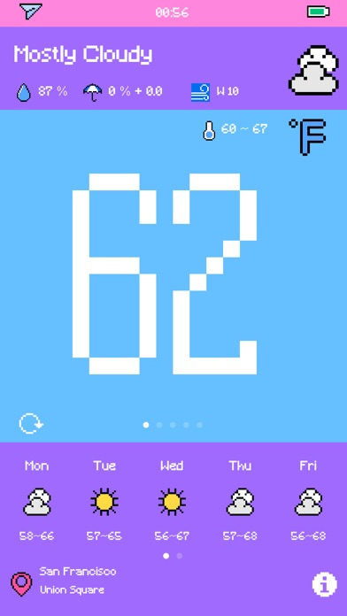 Pixel Weather - Forecast Screenshot