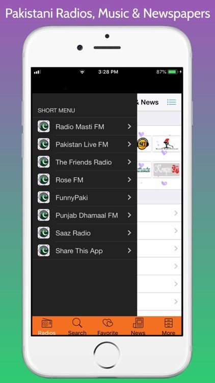 Pakistani Radios, Music & News screenshot-3