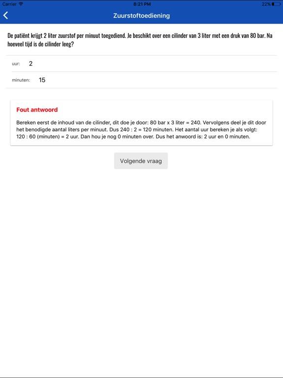 Toets Verpleegkundig Rekenen screenshot 9