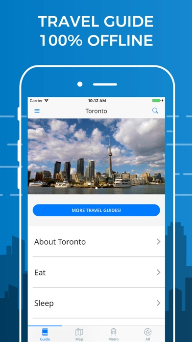 Toronto Travel Guide with Offline Street Map