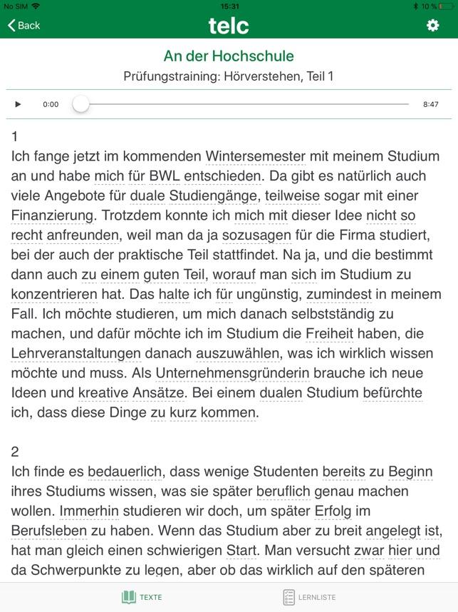 Telc Deutsch C1 Wortschatz Im App Store