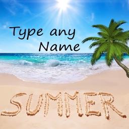Write Name on Sand – Name Art