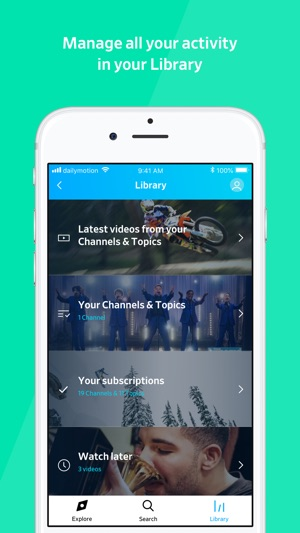 Dailymotion on the App Store