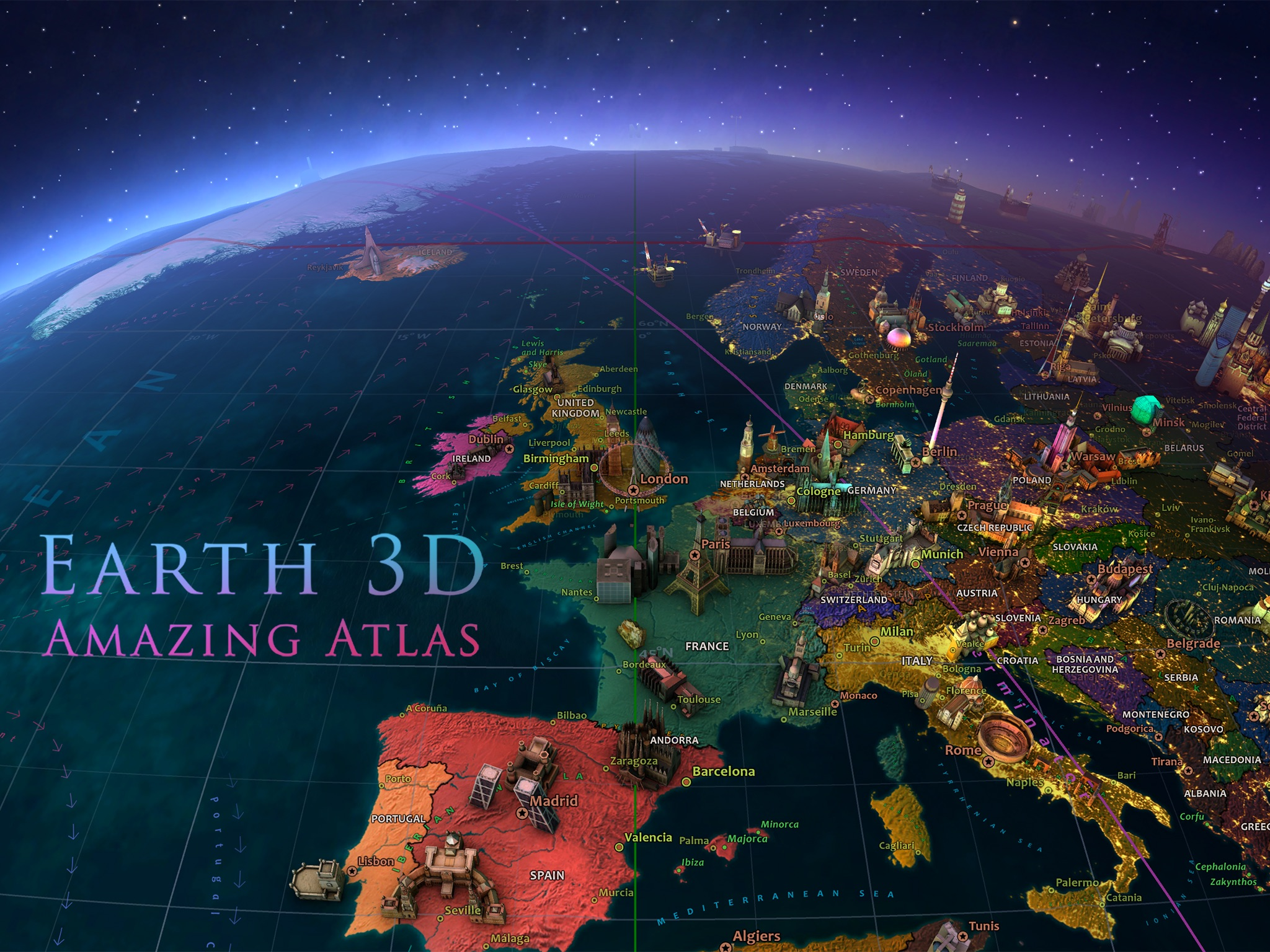 Screenshot do app Earth 3D - Amazing Atlas