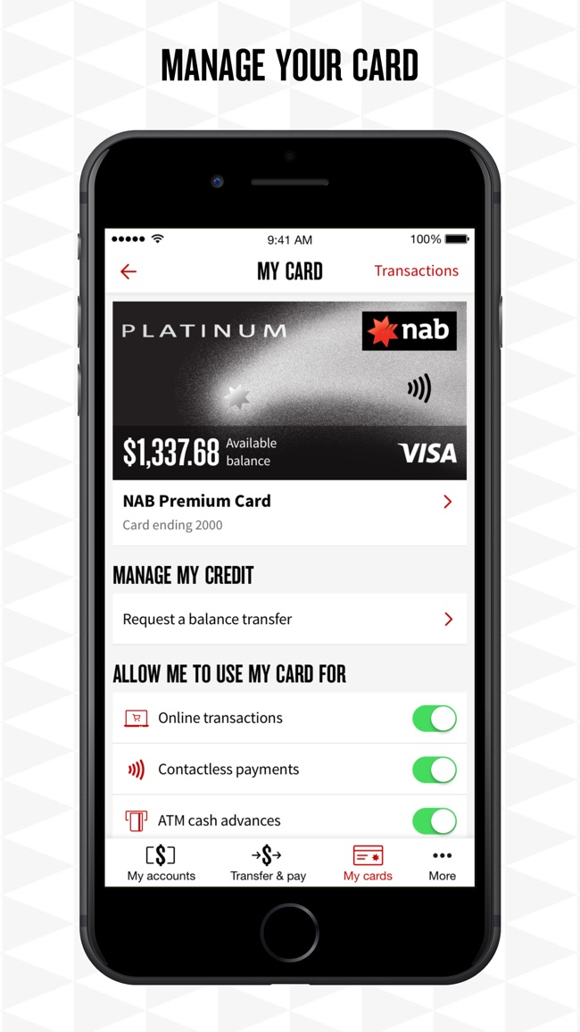 NAB Mobile Banking Screenshot