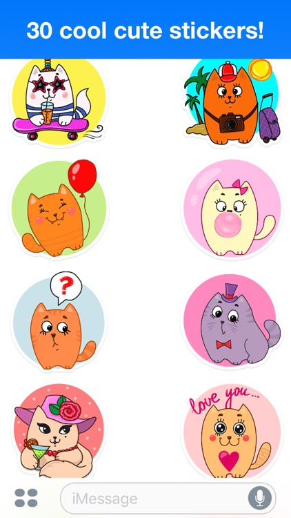 Funny cats - Cute stickers