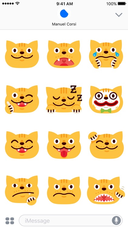 Chubby Cat - iMessage Stickers