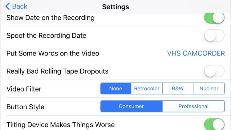 VHS Camcorder screenshot-3
