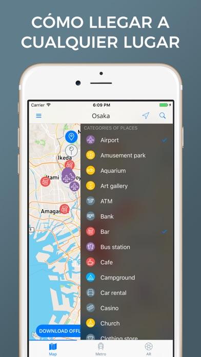 Osaka - Mapas de la ciudadCaptura de pantalla de3