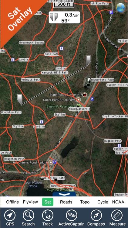 The Blue Hills Reservation GPS Map Navigator