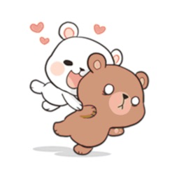Bear Couple Love Cute Sticker