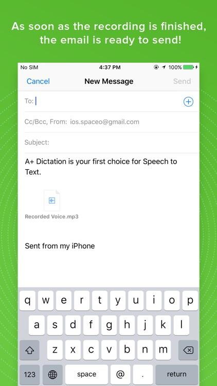 A+ Dictation - Speech to Text screenshot-3