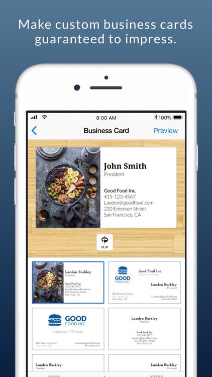 Business Card Maker & Logo App screenshot-0