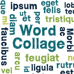 word collage on the app store