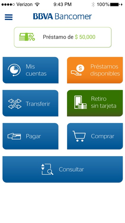 Bancomer móvil screenshot-1