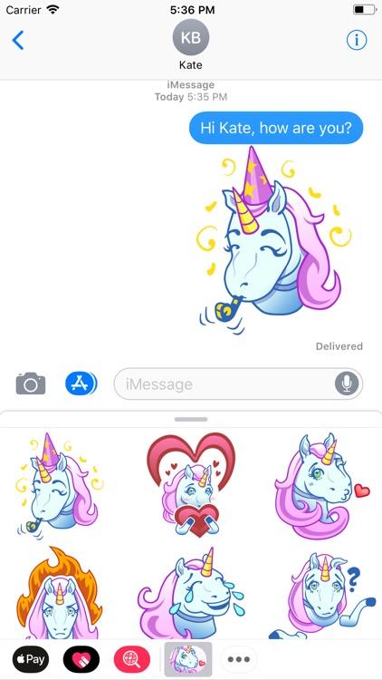 Unicorn Emojis Sticker Pack