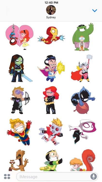 Marvel Stickers: Young Marvel screenshot-3