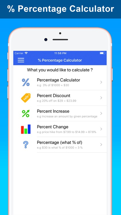 % Percentage Calculator Pro screenshot-0