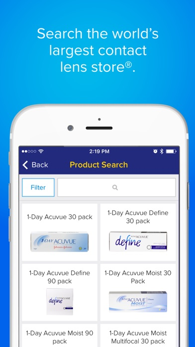 1 800 Contacts review screenshots