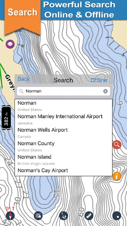 Lake Norman gps offline nautical charts