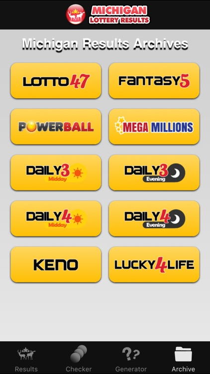 Michigan Lottery Numbers by The Lottery Company
