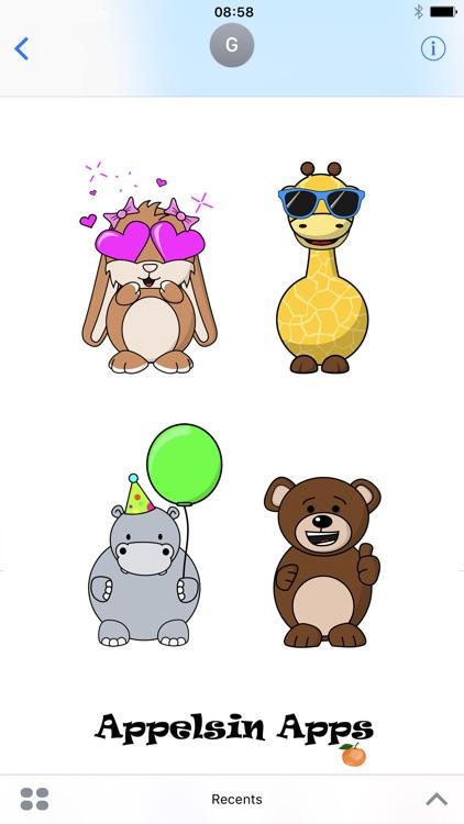Appelsin Stickers - Animals Emoji - Animated