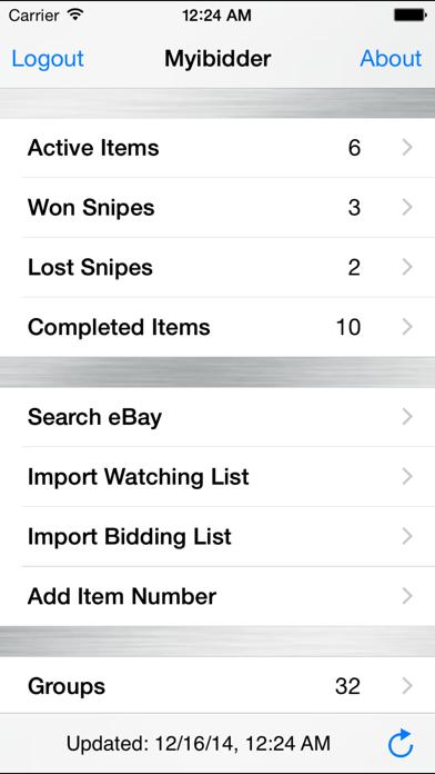 Myibidder Auction Sniper PPS Screenshot