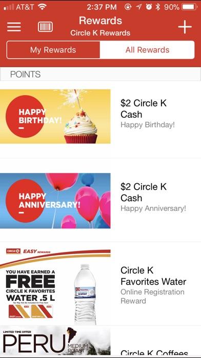 circle k rewards app screenshots - Www Circlek Com Rewards Card Registration