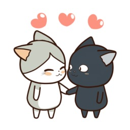 Couple Kitty Animated Stickers