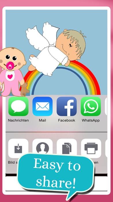 Baby - Birth Card Maker screenshot 5