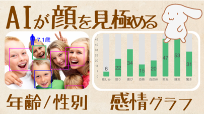顔診断 - 年齢・感情分析カメラアプリのおすすめ画像1