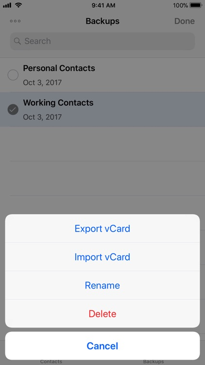Contacts Backup and Transfer screenshot-3