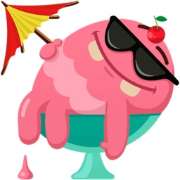Ice Cream Emoji Sticker