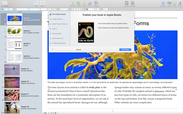 iBooks Author Screenshot