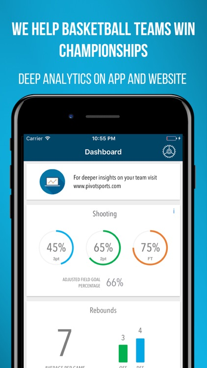 Pivot Basketball Analytics - Stat Tracker/Keeper