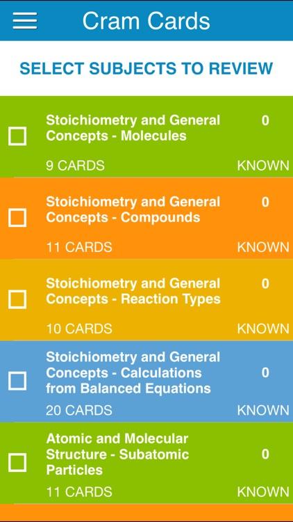 OAT General Chem Cram Cards