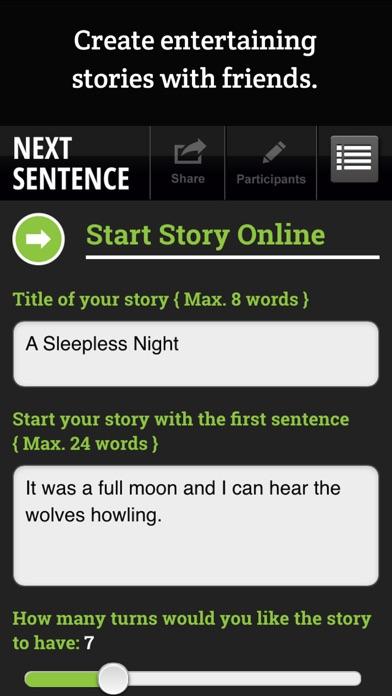 Next Sentence screenshot two