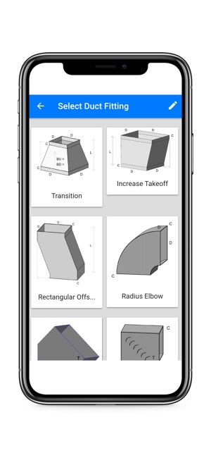 Square duct fittings on the app store