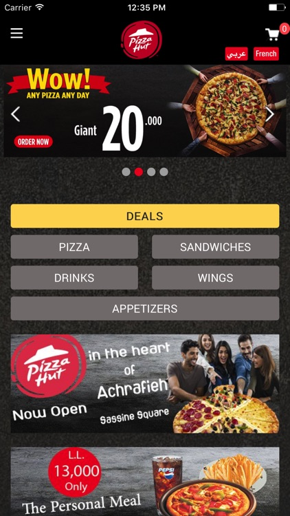 Pizzahut Lebanon screenshot-0