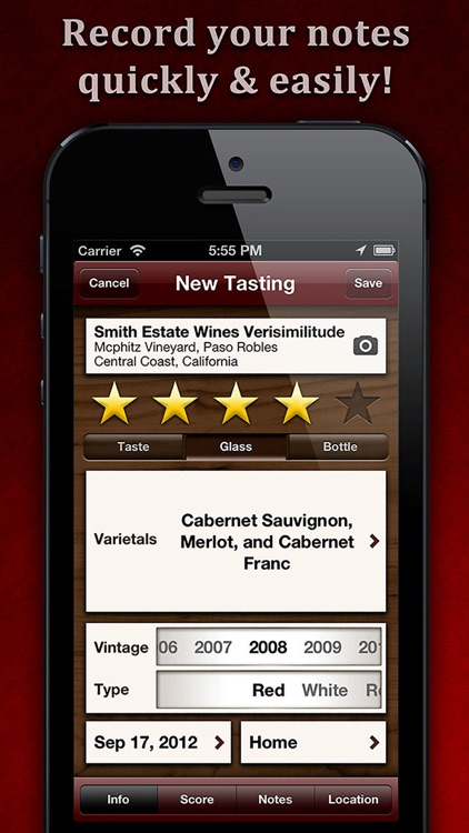 WineAlbum - Wine Tasting Notes