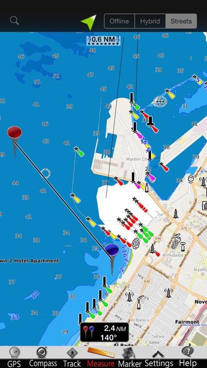 Dubai GPS Nautical Charts