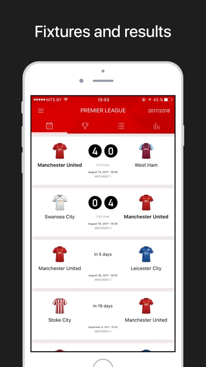 MU Live – Scores & Results. screenshot-3