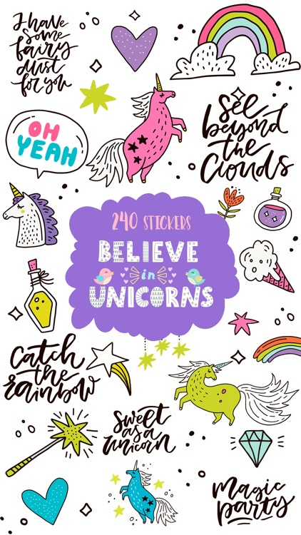 Believe in Unicorns - Sticker Pack screenshot-0