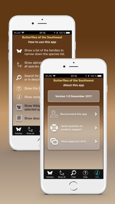 Screenshot of Butterflies of the Southwest App