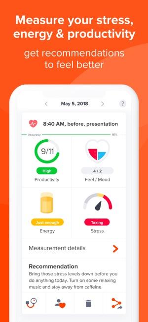 Welltory: self control tracker Screenshot