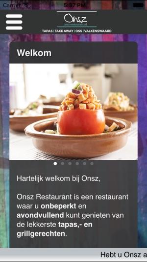 onsz restaurant dans l'app store