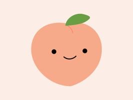 Cute Peach Stickers